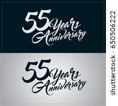 55 years anniversary... | Shutterstock .eps vector #650506222