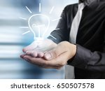hands of business person... | Shutterstock . vector #650507578