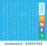 website icon set clean vector | Shutterstock .eps vector #650507935
