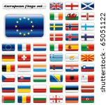 extra glossy button flags. big... | Shutterstock .eps vector #65051122