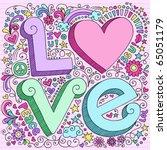 hand drawn 3d love lettering...   Shutterstock .eps vector #65051179