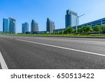 city empty traffic road with...   Shutterstock . vector #650513422