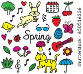 spring doodle | Shutterstock .eps vector #650516326