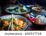 Colorful Thai Food In A...