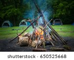 camp fire  | Shutterstock . vector #650525668