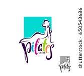pilates class  lesson logo... | Shutterstock .eps vector #650543686