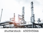 close up industrial view at oil ... | Shutterstock . vector #650545066