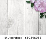 purple rose over whitewashed... | Shutterstock . vector #650546056