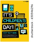 happy children's day poster in... | Shutterstock .eps vector #650546296
