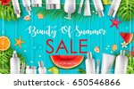 vector illustration of summer... | Shutterstock .eps vector #650546866