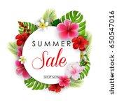 vector illustration of summer...   Shutterstock .eps vector #650547016