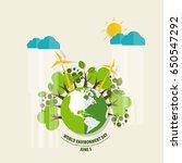 world environment day concept.... | Shutterstock .eps vector #650547292