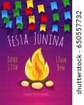 festa junina poster with... | Shutterstock .eps vector #650557732
