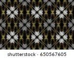 damask seamless pattern for... | Shutterstock . vector #650567605