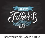 happy fathers day lettering... | Shutterstock .eps vector #650574886