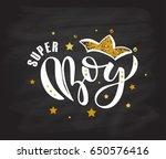 vector illustration of super... | Shutterstock .eps vector #650576416