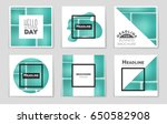 abstract vector layout... | Shutterstock .eps vector #650582908