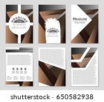 abstract vector layout... | Shutterstock .eps vector #650582938