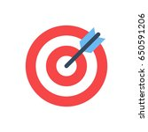target icon. business objective ... | Shutterstock .eps vector #650591206