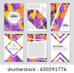 abstract vector layout... | Shutterstock .eps vector #650591776