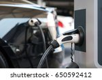 power supply for electric car... | Shutterstock . vector #650592412