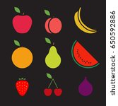 fruit icons | Shutterstock .eps vector #650592886