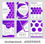 abstract vector layout... | Shutterstock .eps vector #650593045