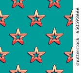 retro stars pattern. abstract... | Shutterstock .eps vector #650593666