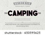font.alphabet.script.typeface... | Shutterstock .eps vector #650595625