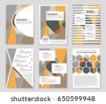 abstract vector layout... | Shutterstock .eps vector #650599948