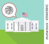 illustration of the white house ...   Shutterstock .eps vector #650603842