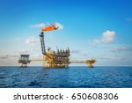 oil and gas processing platform ... | Shutterstock . vector #650608306