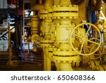 manual operate ball valve at... | Shutterstock . vector #650608366
