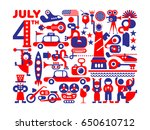 independence day of the united... | Shutterstock .eps vector #650610712