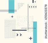 retro abstract geometric... | Shutterstock .eps vector #650623378