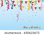 colorful multicolored confetti... | Shutterstock .eps vector #650623672