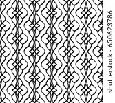 calligraphic pattern with curls ... | Shutterstock .eps vector #650623786