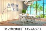 interior dining area. 3d... | Shutterstock . vector #650627146