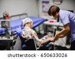 blurred of  eeg electrode... | Shutterstock . vector #650633026