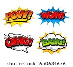 retro comic speech bubbles with ...