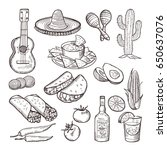 fast food and other mexican... | Shutterstock .eps vector #650637076
