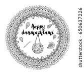 mandala pattern background....   Shutterstock .eps vector #650637226