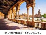 plaza de espana  in seville ... | Shutterstock . vector #650641762
