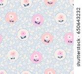 seamless floral pattern | Shutterstock .eps vector #650643232