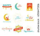 vector illustration of eid... | Shutterstock .eps vector #650647306