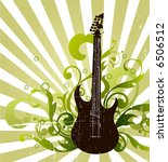 guitar   Shutterstock .eps vector #6506512