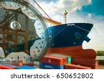logistics shipping container... | Shutterstock . vector #650652802