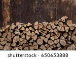 Woodpile  Stack Of Wood  On Th...