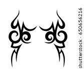 tattoo tribal vector designs.... | Shutterstock .eps vector #650656216