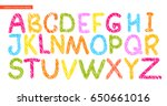 Colorful Alphabet Painted With...